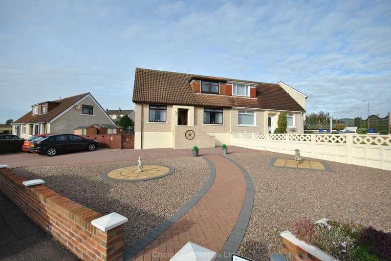 3 Bedrooms Semi Detached House for sale in Fairlie View, Gatehead, KA2 0AU