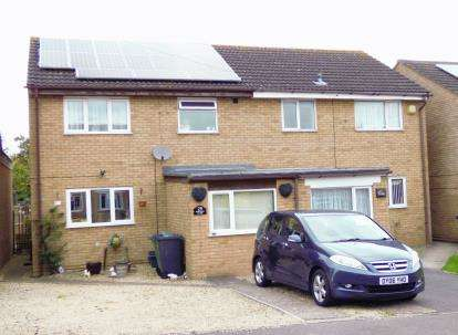 3 Bedrooms Semi Detached House for sale in Shergar Close, Abbeydale, Gloucester, Gloucestershire