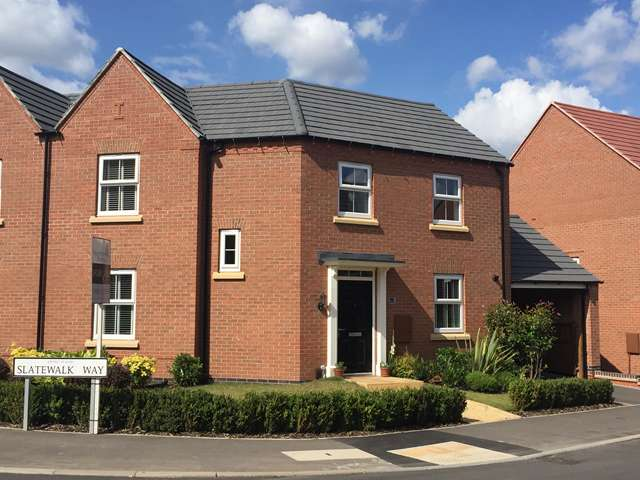 3 Bedrooms Semi Detached House for sale in Slatewalk Way, Glenfield, Leicester. LE3 8HU