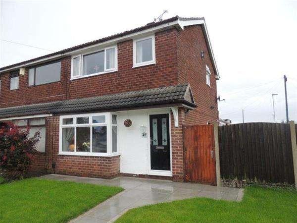 3 Bedrooms Semi Detached House for sale in Merton Road, Highfield, Wigan