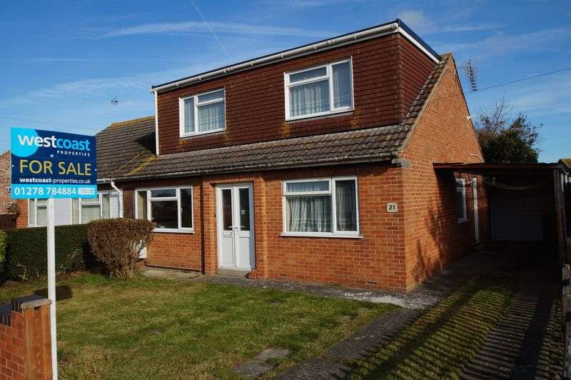 3 Bedrooms Semi Detached Bungalow for sale in Ashcott Drive, Burnham-On-Sea