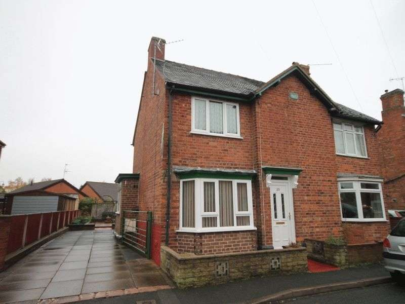 2 Bedrooms Semi Detached House for sale in Victoria Road, Market Drayton