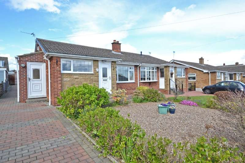 2 Bedrooms Semi Detached Bungalow for sale in Grampian Avenue, Lupset Park, Wakefield