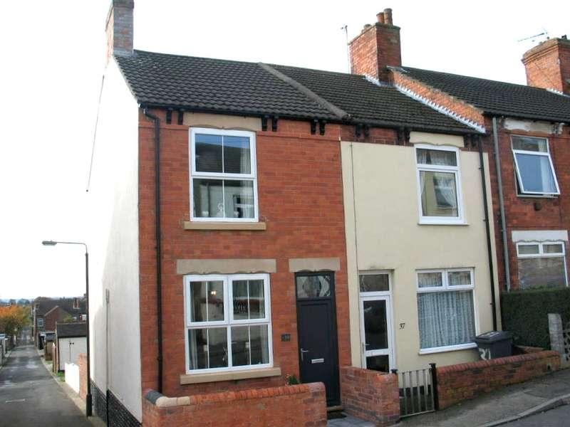 2 Bedrooms End Of Terrace House for sale in Hardwick Street, Tibshelf, Alfreton, Derbyshire, DE55