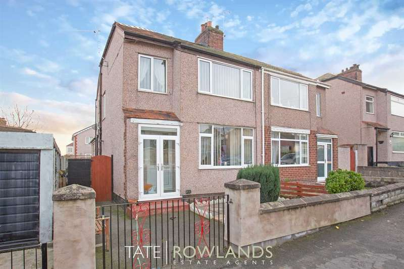 3 Bedrooms Semi Detached House for sale in Manor Drive, Flint
