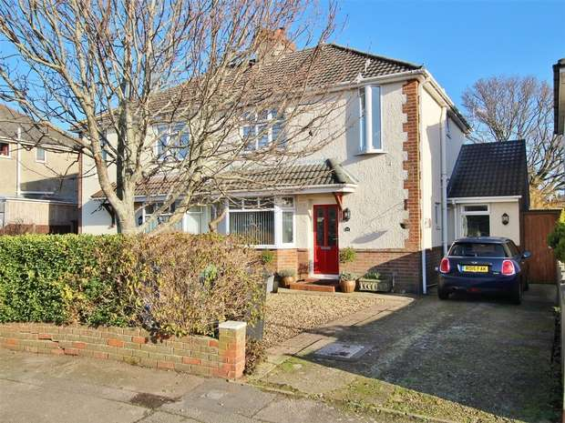 3 Bedrooms Semi Detached House for sale in Shottsford Road, Oakdale, POOLE, Dorset