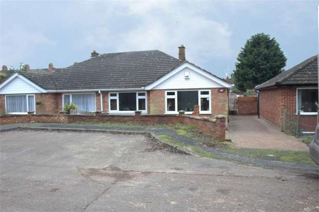 3 Bedrooms Semi Detached Bungalow for sale in Welbourne Close, Raunds, Wellingborough, Northamptonshire