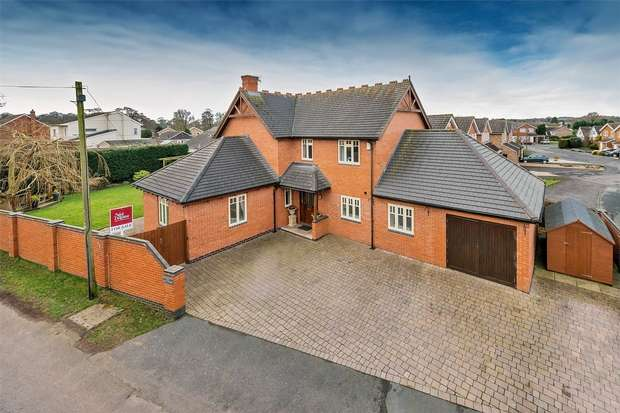 4 Bedrooms Detached House for sale in The Hawthorns, Springfields, Newport, Shropshire