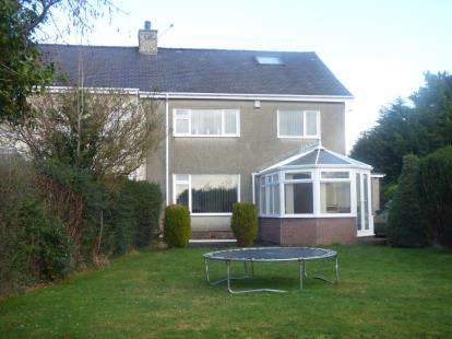 3 Bedrooms Semi Detached House for sale in Cae Cilmelyn, Bangor, Gwynedd, LL57