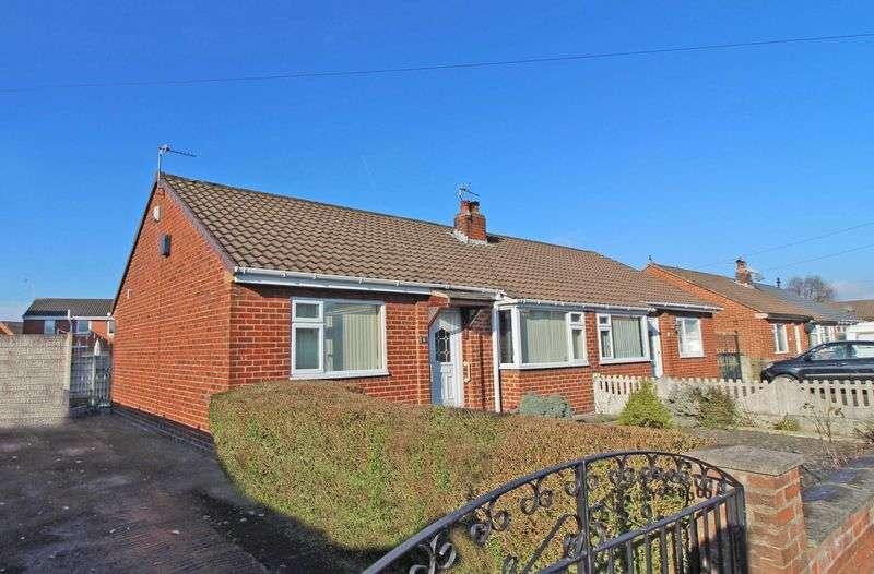2 Bedrooms Semi Detached Bungalow for sale in Cedar Avenue, HIndley Green, Wigan