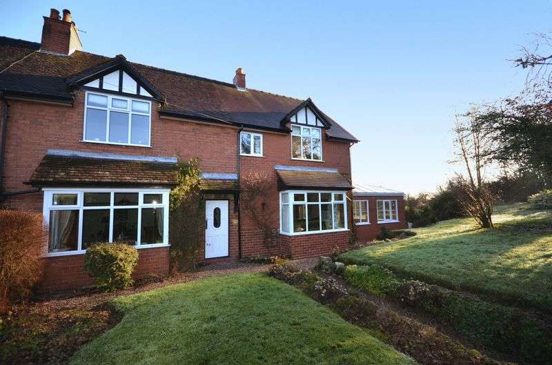 4 Bedrooms Semi Detached House for sale in 1 Weston Meres Cottage, Maer, Newcastle Under Lyme, Staffordshire. ST5 5EF