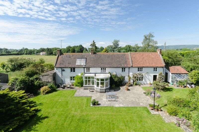 5 Bedrooms Detached House for sale in Bleadney, Between Wells & Wedmore