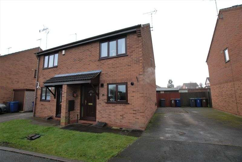 2 Bedrooms Semi Detached House for sale in Brambling Close, Uttoxeter