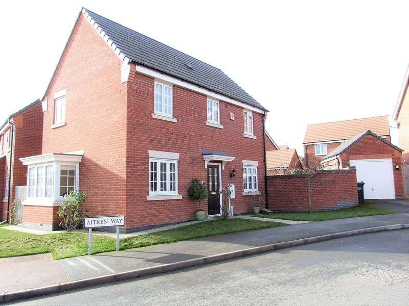 3 Bedrooms Detached House for sale in Aitken Way, Loughborough
