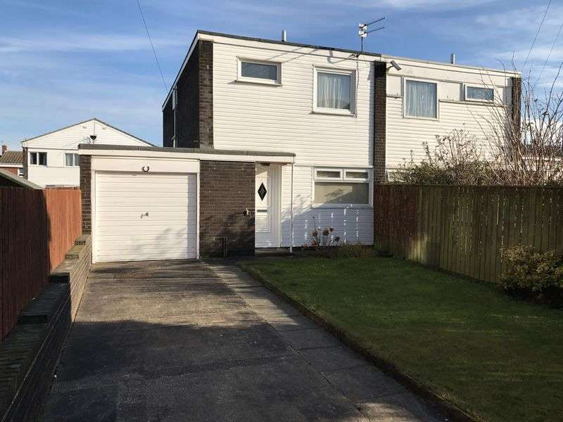 3 Bedrooms Semi Detached House for sale in Hedley Close, South Shields