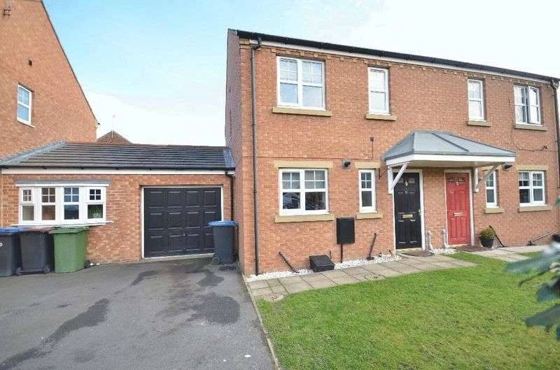 3 Bedrooms Semi Detached House for sale in Goswick Way, East Shore Village, Seaham