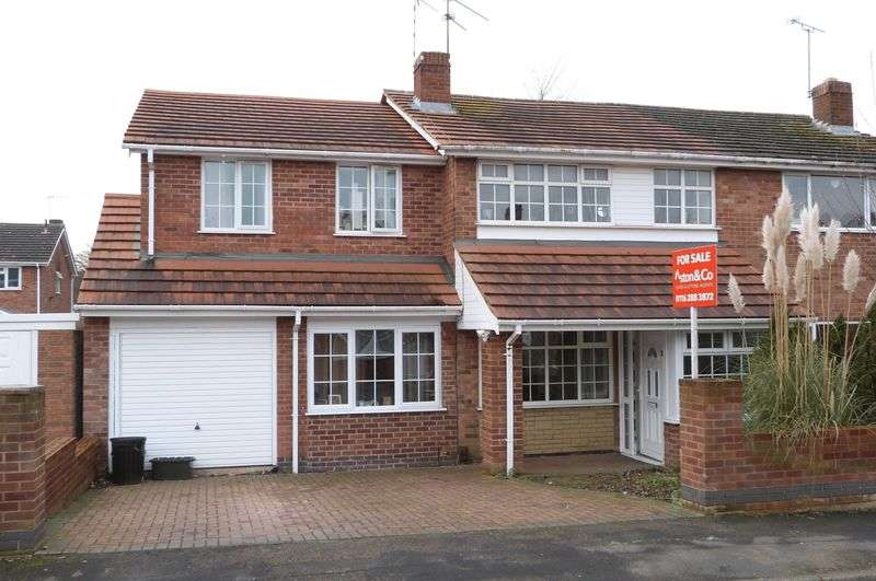 4 Bedrooms Semi Detached House for sale in Ashton Close, Little Hill Estate, Wigston
