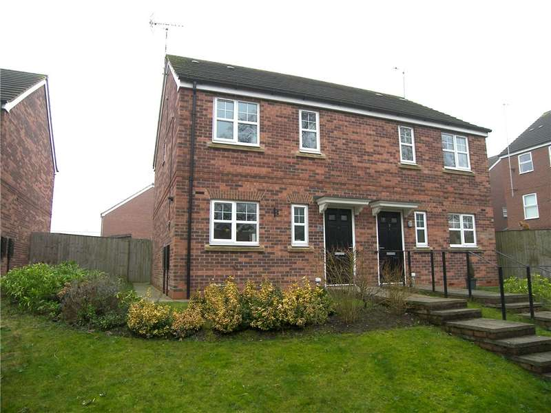 3 Bedrooms Semi Detached House for sale in Rowan Court, Belper, Derbyshire, DE56