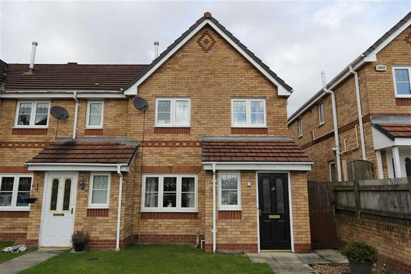 3 Bedrooms End Of Terrace House for sale in 49, Sandywarps, Irlam, Manchester