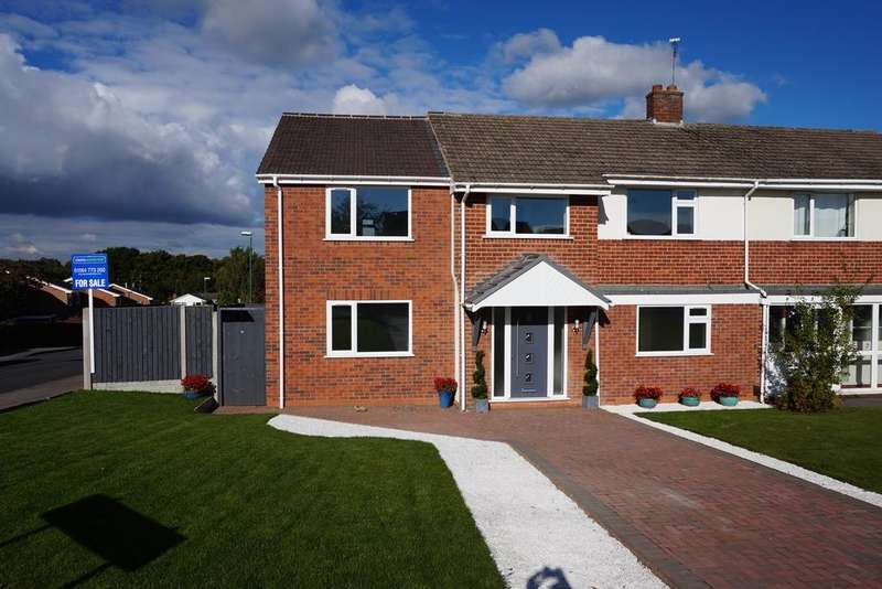 4 Bedrooms Semi Detached House for sale in Whateley Hall Close, Knowle, B93 9NL