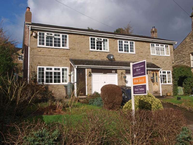 3 Bedrooms Semi Detached House for sale in Spring Bank, New Mills, High Peak, Derbyshire, SK22 4BH