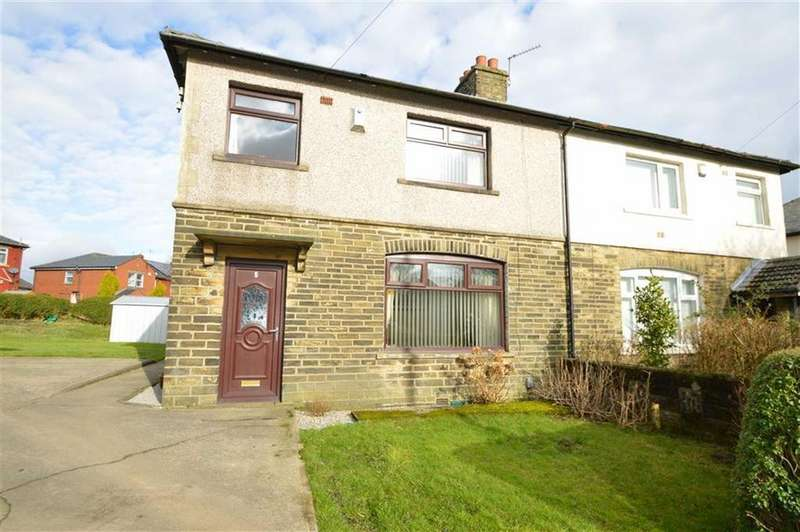 3 Bedrooms Semi Detached House for sale in Lingfield Crescent, Clayton Heights, Queensbury Bradford
