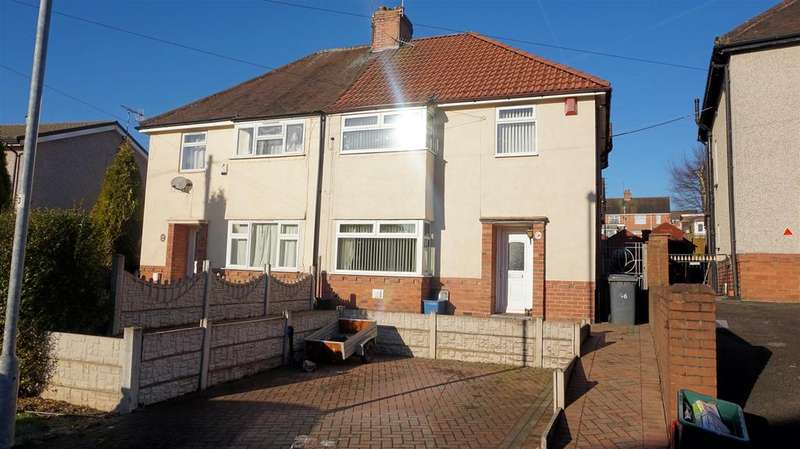3 Bedrooms Semi Detached House for sale in Denry Crescent, Bradwell, Newcastle