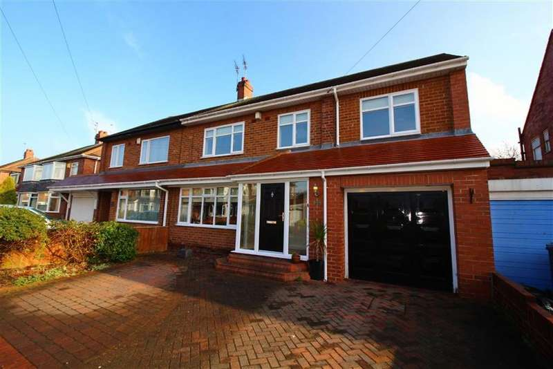 5 Bedrooms Semi Detached House for sale in West Dene Drive, North Shields