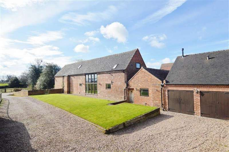 3 Bedrooms Barn Conversion Character Property for sale in Huddlesford Lane, Huddlesford, Staffordshire