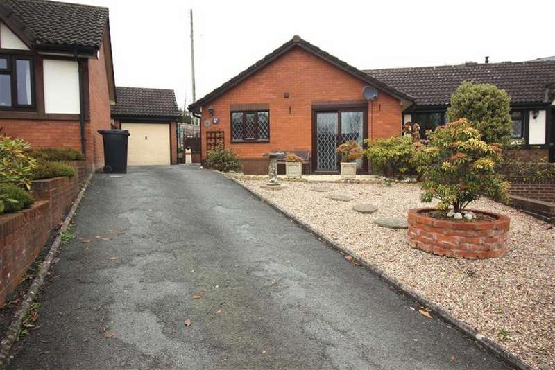 2 Bedrooms Semi Detached Bungalow for sale in Little Henfaes Drive, Welshpool