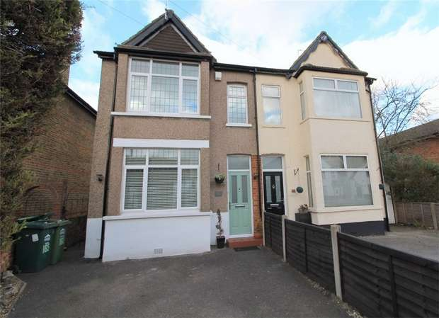 4 Bedrooms Semi Detached House for sale in Feltham Road, Ashford, Surrey