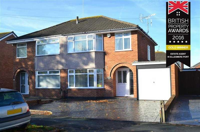 3 Bedrooms Semi Detached House for sale in Summertrees Road, Great Sutton, CH66