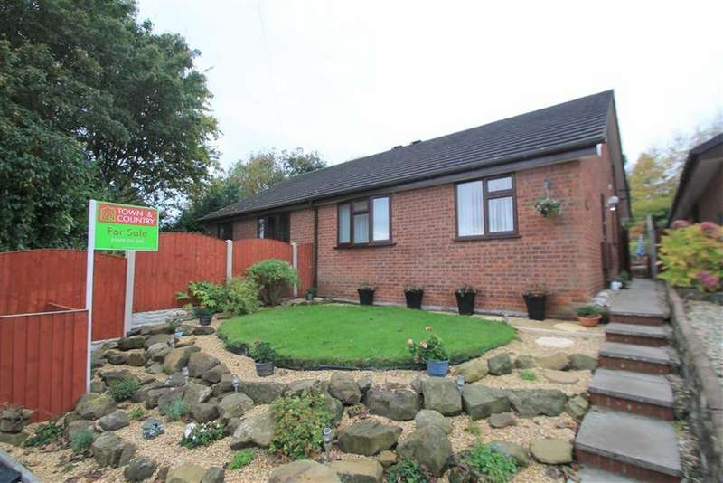 2 Bedrooms Semi Detached Bungalow for sale in Vicarage Close, Summerhill, Wrexham