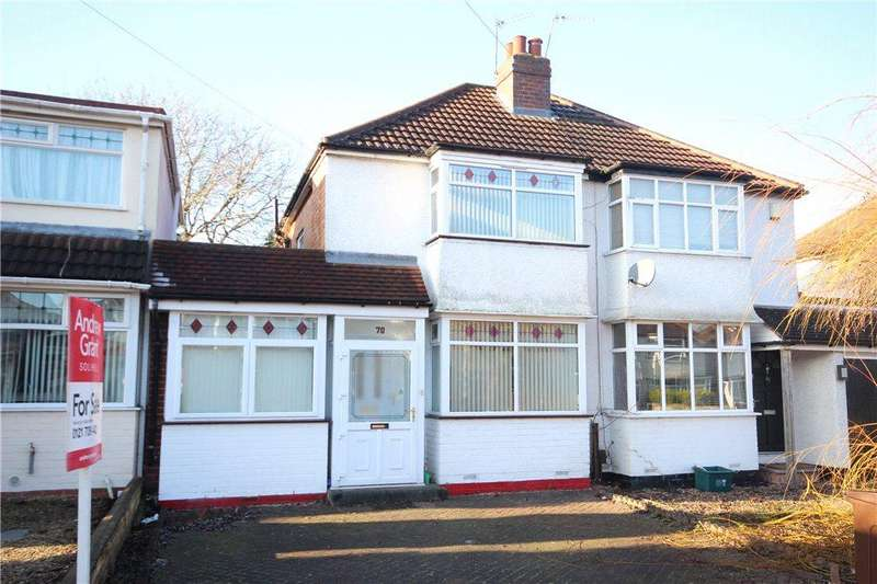 3 Bedrooms Semi Detached House for sale in Summerfield Road, Solihull, West Midlands, B92