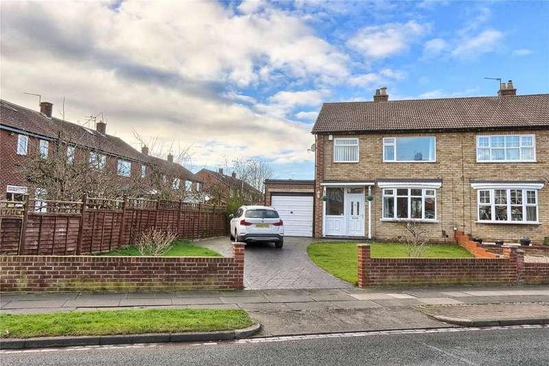3 Bedrooms Semi Detached House for sale in Birkdale Road, Hartburn