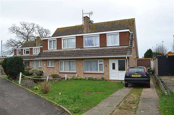 3 Bedrooms Semi Detached House for sale in Elm Grove Drive, Dawlish