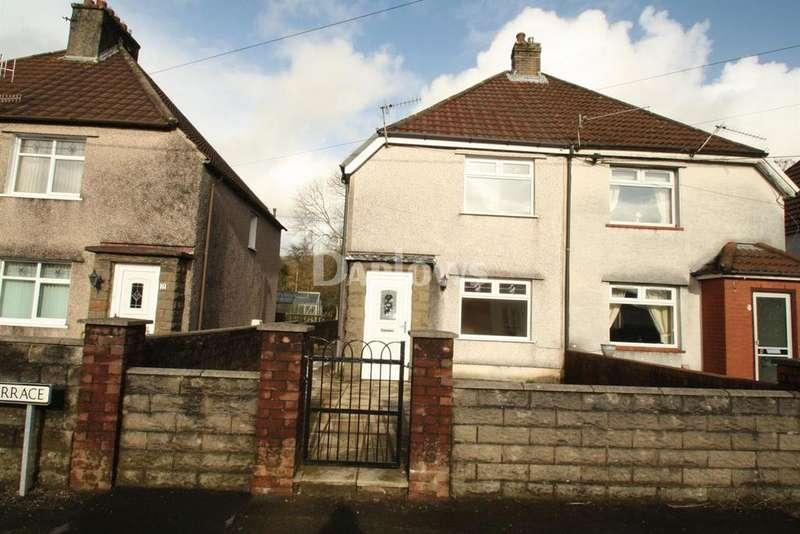 2 Bedrooms Semi Detached House for sale in Laburnum Terrace, Rhydyfelin