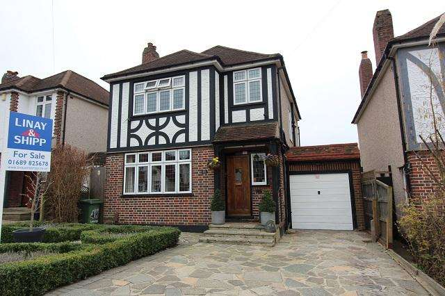 3 Bedrooms Detached House for sale in Lancing Road, Orpington, Kent, BR6 0QT