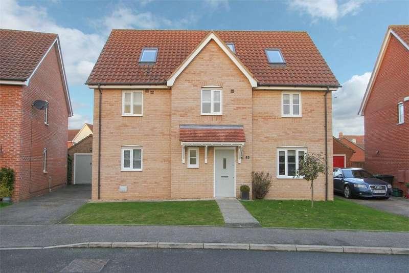 5 Bedrooms Detached House for sale in Burdock Close, Wymondham, Norfolk