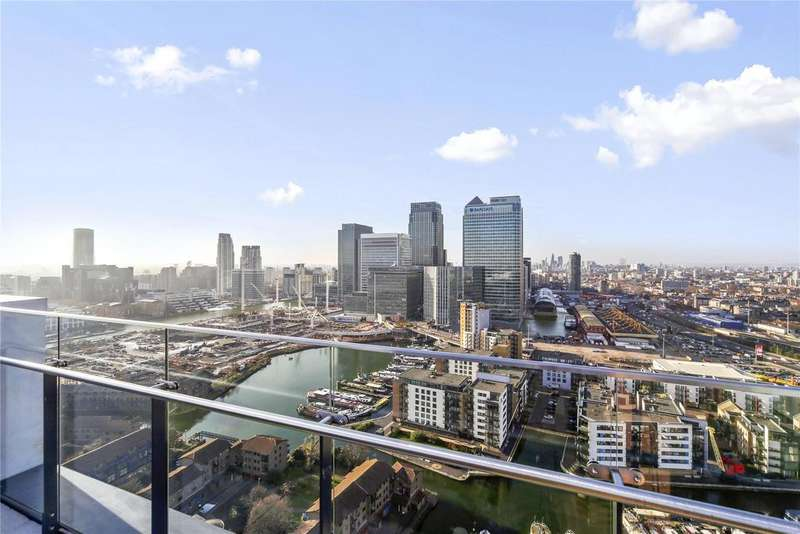 2 Bedrooms Penthouse Flat for sale in Horizons Tower, Yabsley Street, London