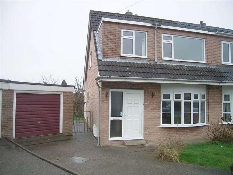 3 Bedrooms Semi Detached House for sale in 8, Rhallt Drive, Guilsfield, Welshpool, Powys, SY21