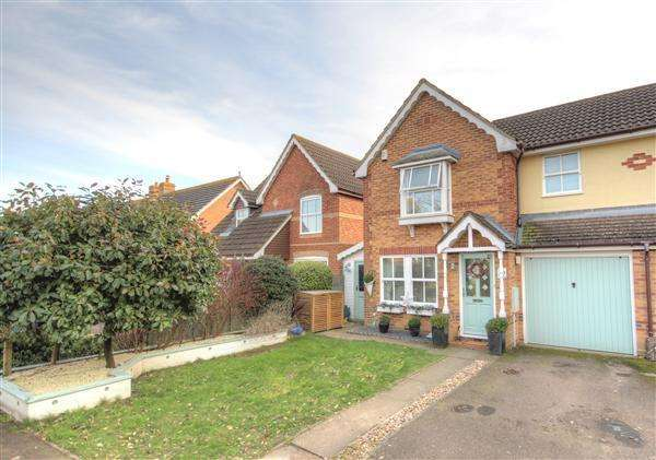 3 Bedrooms Semi Detached House for sale in Saxon Close Kings Hill, ME19 4SA