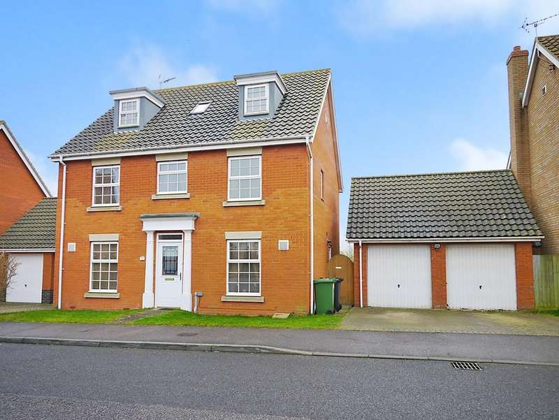 5 Bedrooms Detached House for sale in Rushton Drive, Carlton Colville, Lowestoft