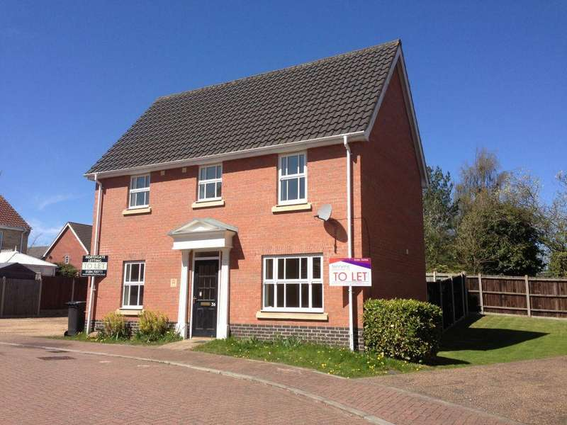 3 Bedrooms Detached House for sale in Pennycress Drive, Thetford