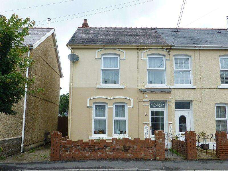 3 Bedrooms Semi Detached House for sale in Margaret Street, Ammanford, Carmarthenshire.