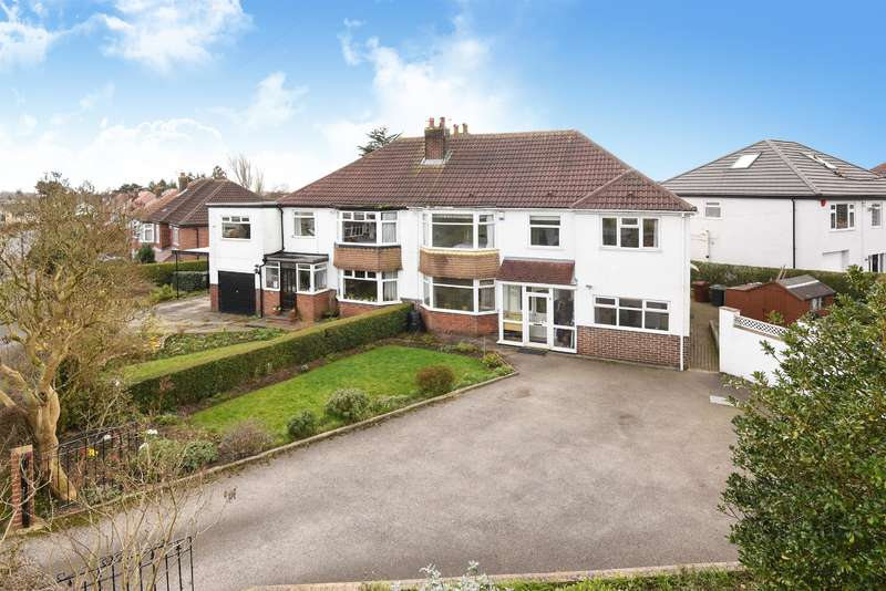 5 Bedrooms Semi Detached House for sale in Mount Drive, Alwoodley, Leeds, LS17 7QW