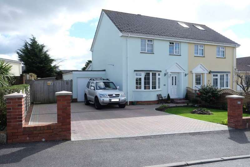 3 Bedrooms Semi Detached House for sale in Tudor Drive, Sticklepath, Barnstaple