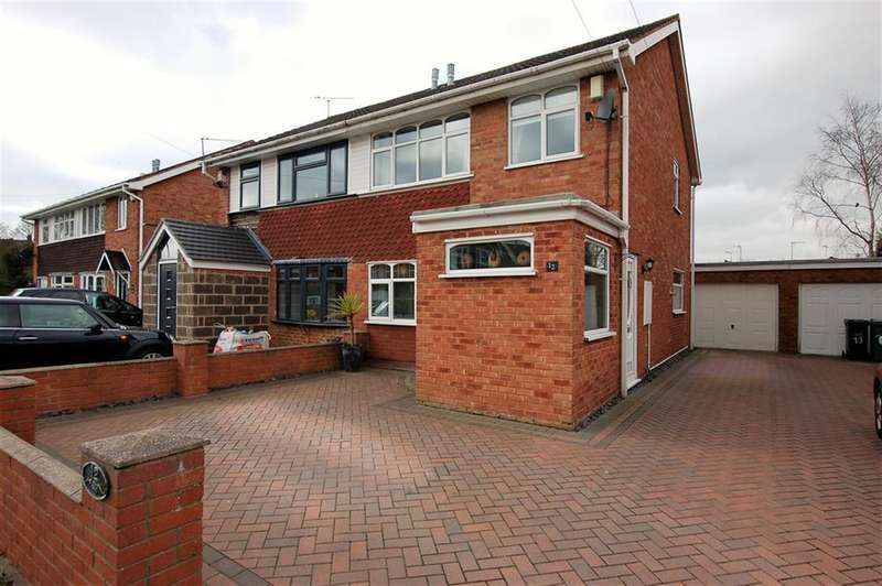 3 Bedrooms Semi Detached House for sale in Honeysuckle Avenue, Kingswinford, DY6 7ED