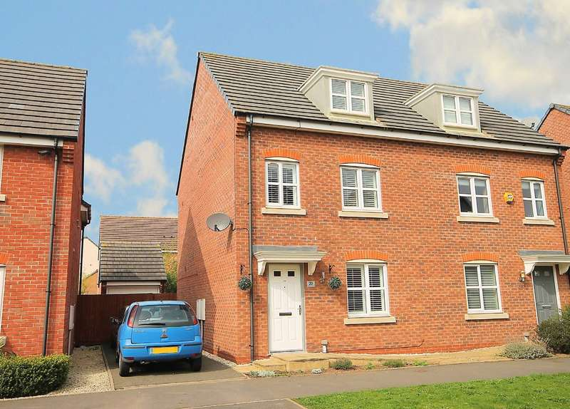 3 Bedrooms Semi Detached House for sale in Lindores Road, Tamworth, B77 2TQ