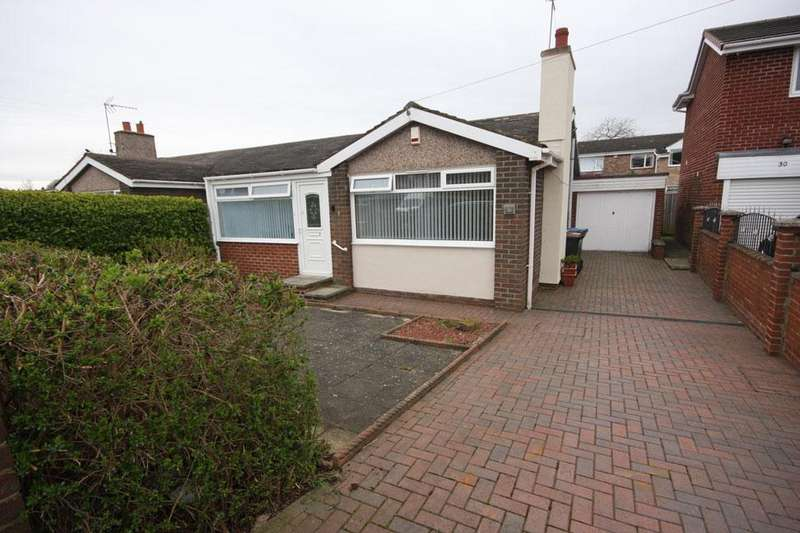 2 Bedrooms Semi Detached Bungalow for sale in Cromarty, Ouston, Chester-le-Street DH2 1JZ